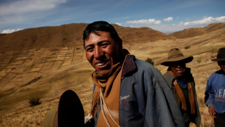 Antonio is bringing water for livestock down from the mountains as wells dry up due to the climate getting hotter.