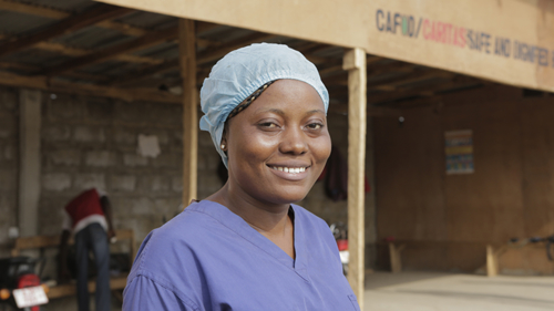 Fatmata Kamara is a member of Kambia's 60-strong safe and dignified Ebola burial team.