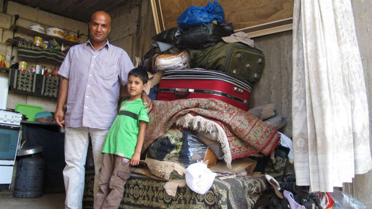 Siraj and his family are living in a single room in Lebanon