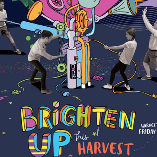 Brighten Up! Harvest Fast Day poster