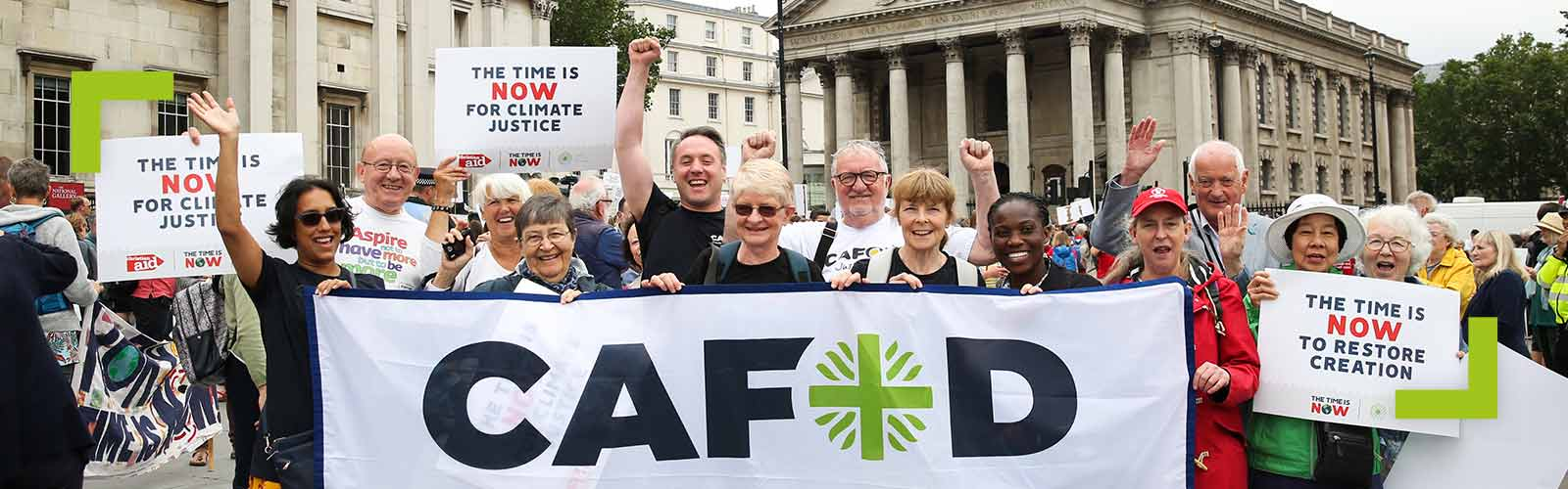 CAFOD supporters at The Time is Now mass lobby on climate change