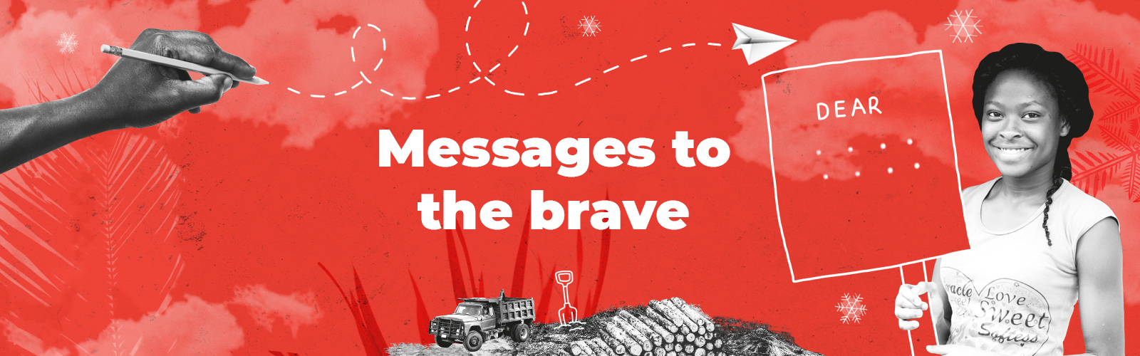 messages to the brave online banner