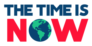 The Time is Now mass lobby logo