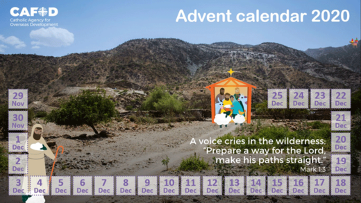 Advent calendar 2020 for young people
