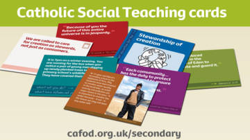 CAFOD CST cards for secondary schools.
