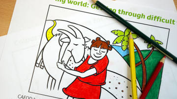 colouring sheets help in difficult times