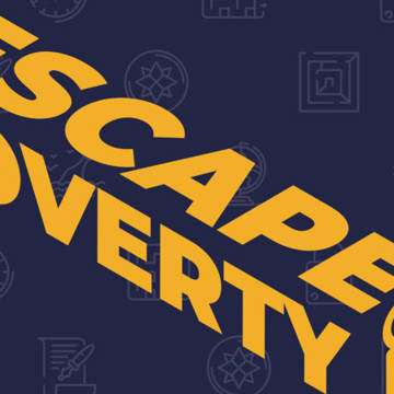 Cover of the guide to the Escape Poverty escape room.
