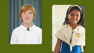 Children featuring in CAFOD's One Day, One World primary schools film resource