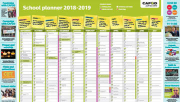 Order a free CAFOD secondary school wallplanner