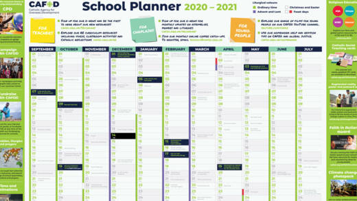 CAFOD wall planner for secondary schools