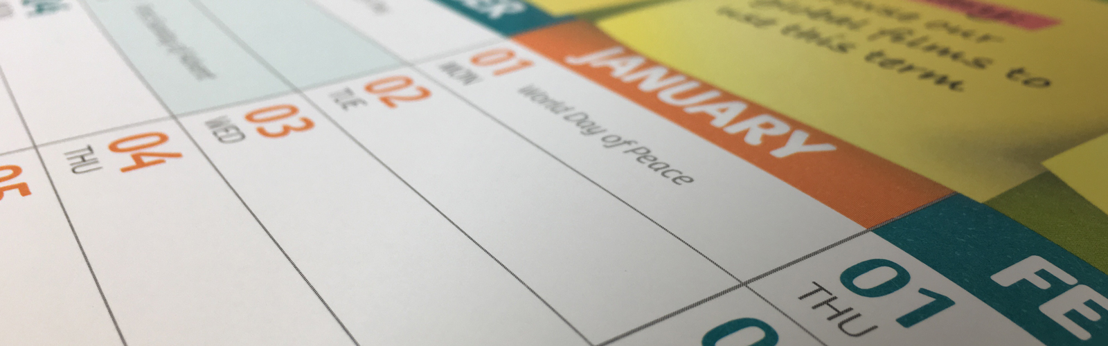 Order a free CAFOD wallplanner.