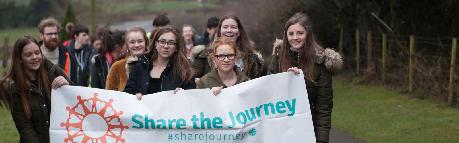 Young people join the Share the Journey walk with CAFOD