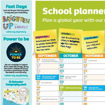 Order a CAFOD wallplanner for your classroom.
