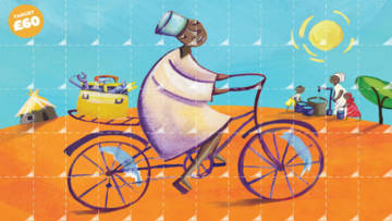 CAFOD's World Gifts bike poster