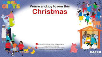 CAFOD World Gifts community Christmas card