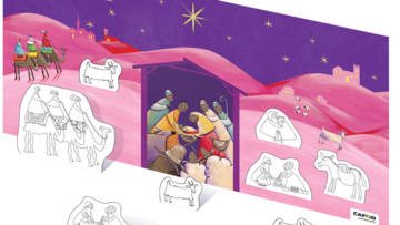 Make a beautiful nativity scene with our World Gifts poster.