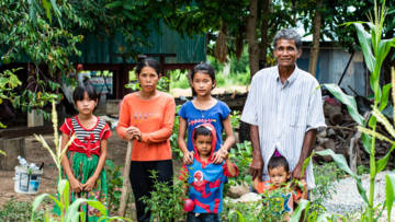 CAFOD partners gave Sat Rot and his family training in farming, after coronavirus left them struggling financially.
