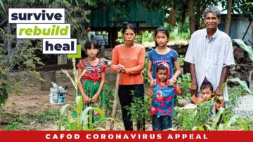 CAFOD partners gave Sat Rot and his family training in farming to help them rebuild their lives, after they struggled financially from the impact of coronavirus.