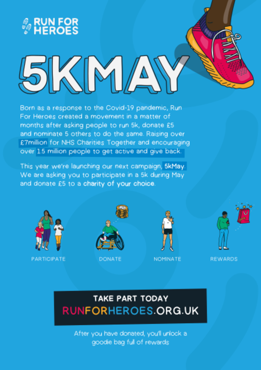 Do a 5K in May for CAFOD