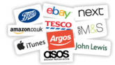 Buy from Boots, eBay, next, Amazon, Tesco, M&S, iTunes, Argos, John Lewis, ASOS and many more