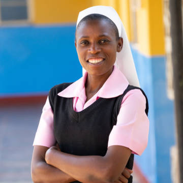 Sister Consilia, a local expert in Zimbabwe