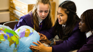 Schoolchildren in England and Wales learn about where CAFOD works