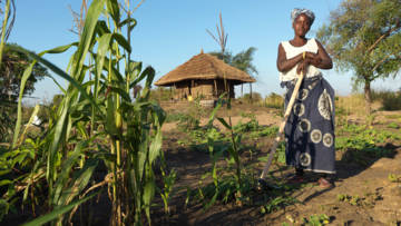 Luisa received tools and materials to help her grow crops and feed her family in the aftermath of Cyclone Idai.