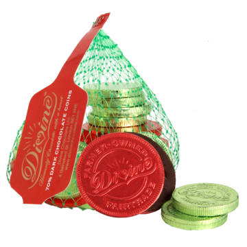 Bag of chocolate coins