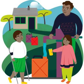 Water for a family illustration