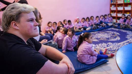 CAFOD young leader meeting refugees in Lebanon