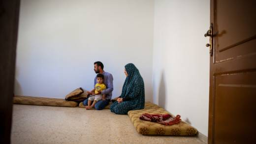 Hasan and family. Syria refugees in Jordan