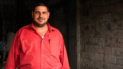 Kadar in his rented home in Syria