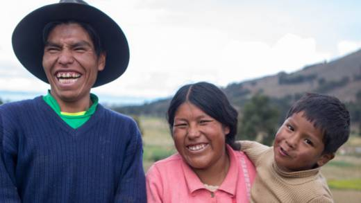 Vladimir with his family in Bolivia