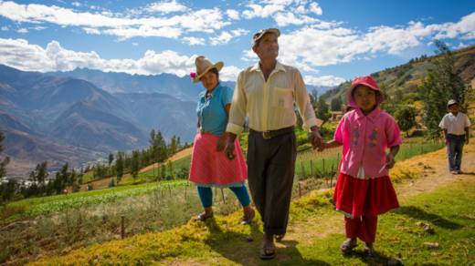 Santos walks in Peru mountains CAFOD Lent