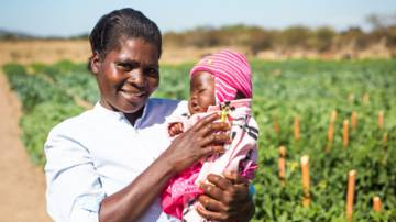 Mother in Zimbabwe - CAFOD in Lent