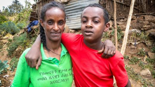 HIV mother with son in Ethiopia - CAFOD in Lent