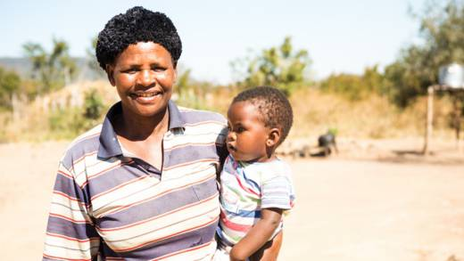Cynthia with her family in Zimbabwe CAFOD Lent