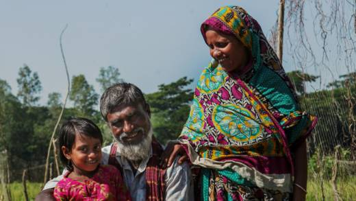 Tayab Ali with his family in Bangladesh CAFOD Lent