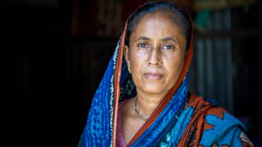 Nomita in her home in Bangladesh