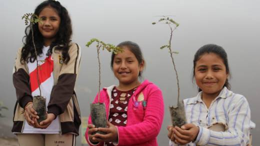 Members of an eco-brigade, part of a CAFOD-supported project in Lima.