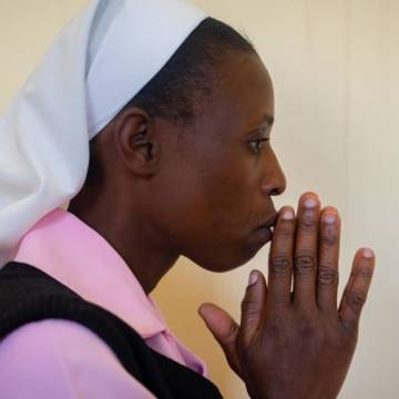 Sister Consilia Munkuli, at prayer.
