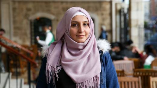 Nermin, originally from Syria, now works as a project manager on a peace project in Lebanon.