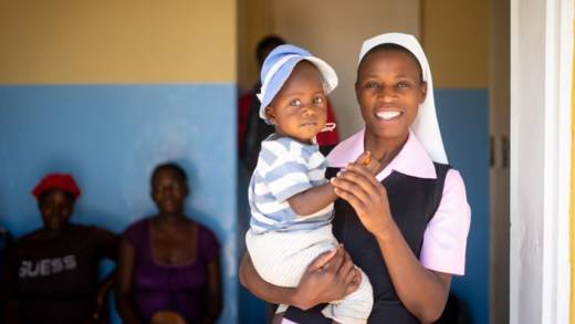 Sister Consilia, a pharmacist in Mtora Mission Hospital, Zimbabwe.