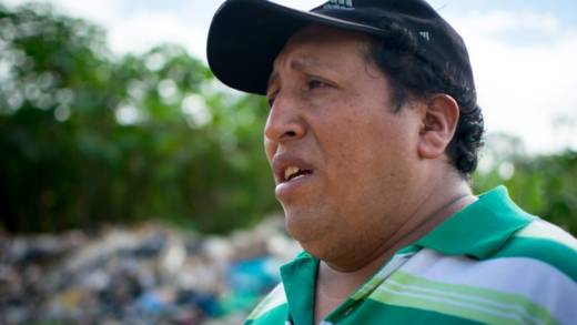 Adán, union leader for the Cobija refuse collectors' union in Bolivia.