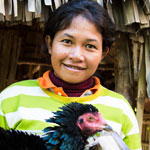 provides 10 families with chickens and provides training for how to look after them.