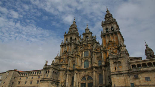 The  cathedral of Santiago de Compostela - end point of the Catholic pilgrimage
