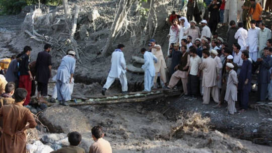 The floods that hit Pakistan in August 2013 damaged homes, roads, bridges and crops