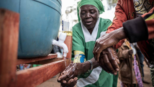 Handwashing during the 2019 Ebola outbreak
