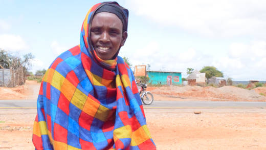 Portrait of Agudo Gelgelo at her home at Dembi Village, Borana zone. Asa single parent Agundo found it very difficult to survive.