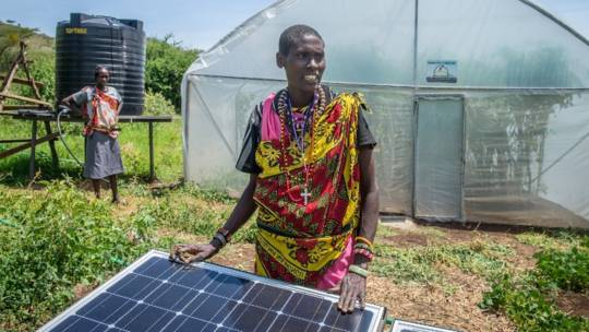 Renewable energy helping farmers affected by climate change in Kenya to make a sustainable living.
